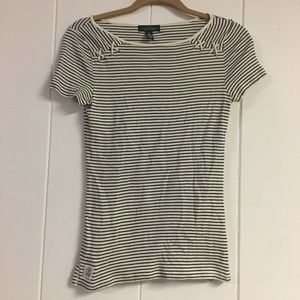 L•R•L Striped Breton Shirt w/ Rope Detailing